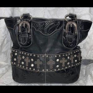 Vintage American West Shoulder bag Silver Crosses